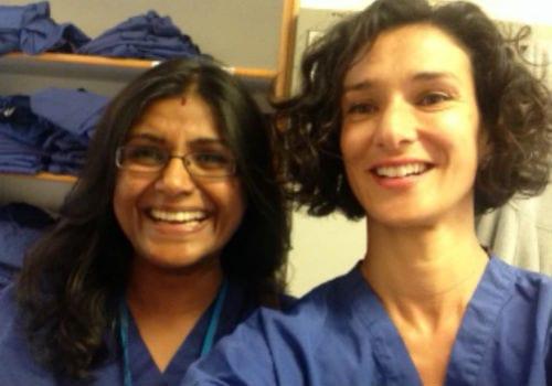 Indira Varma at Burton Hospital