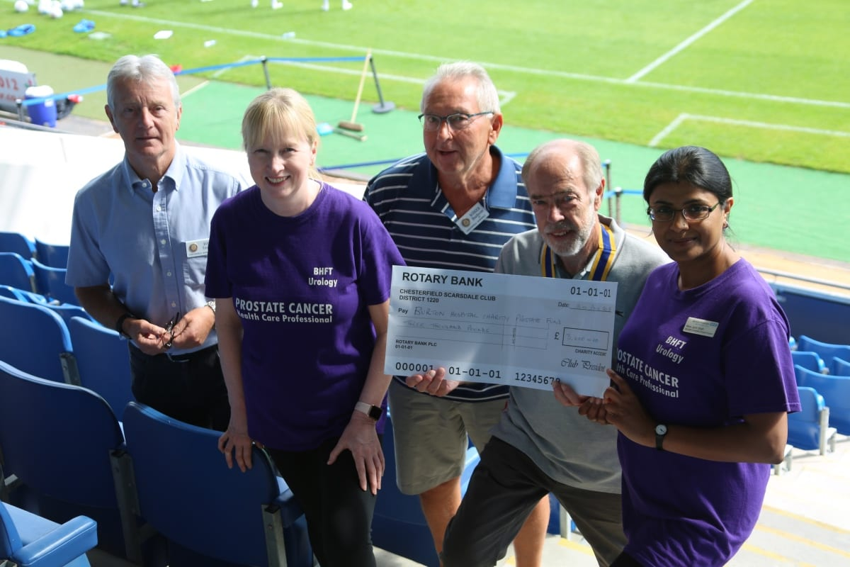 Rotary & Chesterfield FC Fighting Prostate Cancer